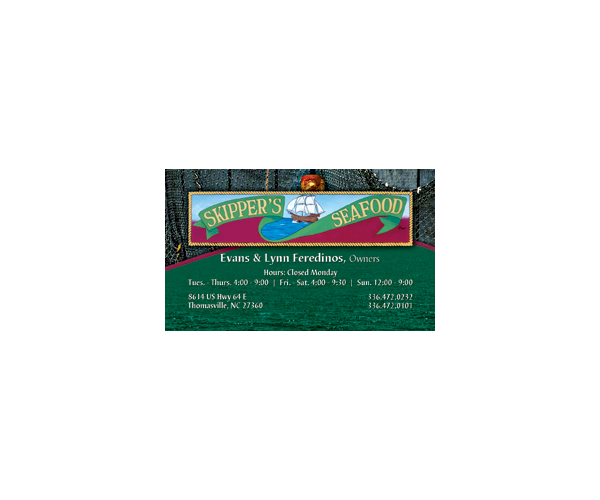 Skippers Seafood Business Card